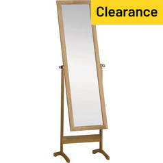 Argos Home Full Length Wooden Cheval Mirror - Oak Effect