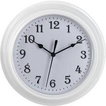Simple Value White Plastic Wall Clock