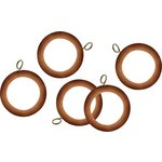 more details on HOME 20 Wooden 28mm Curtain Rings - Pine.