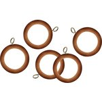 more details on HOME 20 Wooden 35mm Curtain Rings - Pine.