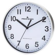 HOME Silver Precision Radio Controlled Wall Clock