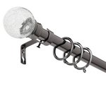 more details on Collection Cora Extend Metal Glass Ball Curtain Pole - Black