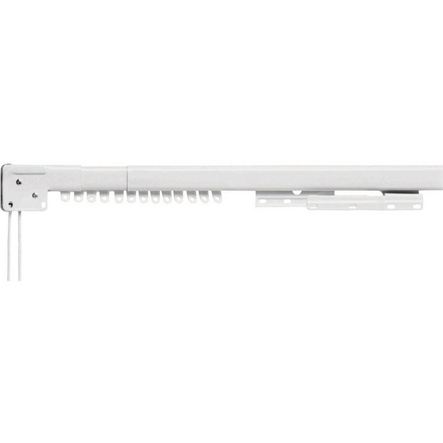 Buy HOME Extendable Pre-Corded Metal Curtain Track - White at ...