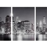 more details on Collection New York At Night Triptych Canvas - Set of 3.