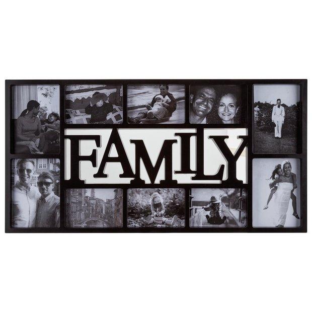 Buy Home Family 10 Print Photo Frame Black At Argos Co