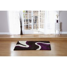 Sienna Ripple Rug - 120 x 170cm - Chocolate and Aubergine