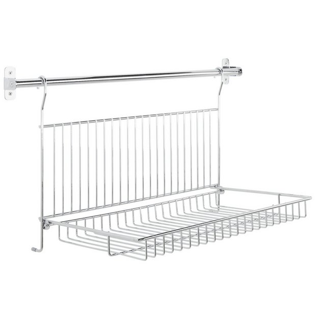 Kitchen Shelf Argos: Buy HOME Chrome Rail And Dish Holder At Argos.co.uk