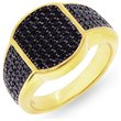 more details on Domain Gents' Gold Plated Silver Black Cubic Zirconia Ring.