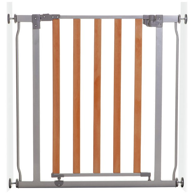 buy dreambaby cosmopolitan wood metal gate 75 82cm at. Black Bedroom Furniture Sets. Home Design Ideas
