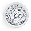 more details on Domain 9ct White Gold Cubic Zirconia Round Stud Earring.