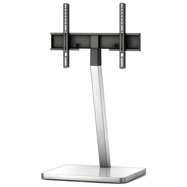 buy sonorous tv and media stand white and silver at. Black Bedroom Furniture Sets. Home Design Ideas