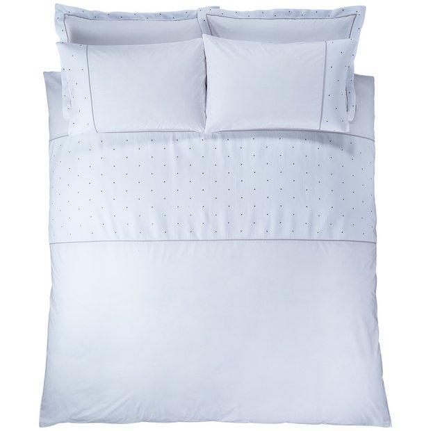 buy bianca cotton soft casual spot duvet cover set. Black Bedroom Furniture Sets. Home Design Ideas