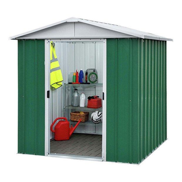 Buy yardmaster apex metal garden shed 6 x at argos for Garden shed 6 x 4