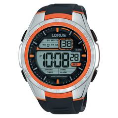 Lorus Men's Orange Detail Digital Watch