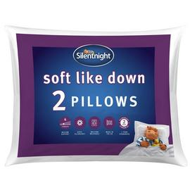 Silentnight Soft Like Down Medium/ Soft Pillow - 2 Pack