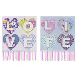 more details on Arthouse Retro Hearts Canvas - Set of 2.