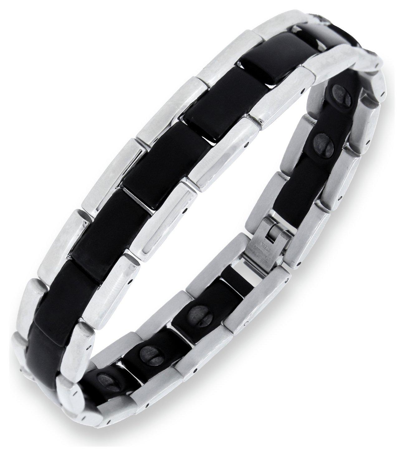 Men S Bracelets Leather Sterling Silver Bracelets Argos