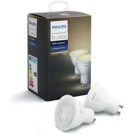 Philips Hue White Ambiance GU10 Spot Lights - Double Pack