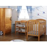 more details on OBaby Lily Furniture & Bedding Set - Country Pine.