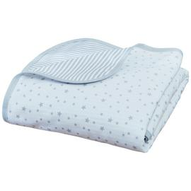 Clair De Lune Stars & Stripes Cot Blanket - Grey.