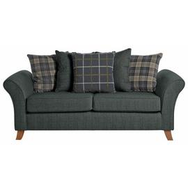 Argos Home Kayla 3 Seater Scatter Back Fabric Sofa -Charcoal