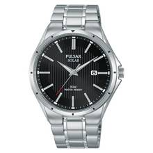 Pulsar Men's Black Dial Solar Bracelet Watch