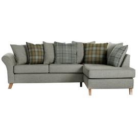 Argos Home Kayla Right Corner Scatter Back Sofa - Light Grey
