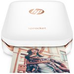 more details on HP Sprocket Photo Printer - White.