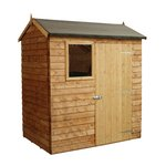 Mercia Wooden Overlap Reverse 6 x 4 Apex Shed.
