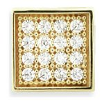 more details on Domain 9ct Multi Cubic Zirconia Square Stud Earring Boxed.