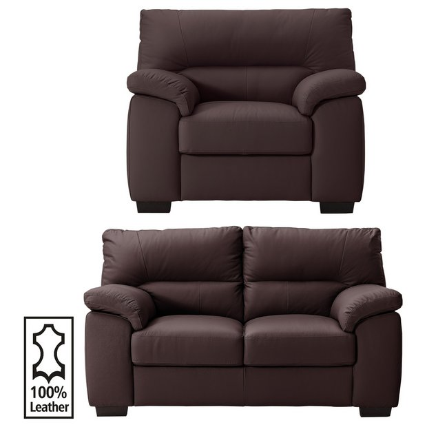 buy collection piacenza 2 seater leather sofa and chair. Black Bedroom Furniture Sets. Home Design Ideas