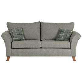 Argos Home Kayla 3 Seater Fabric Sofa - Light Grey