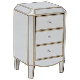 Premier Housewares Tiffany Mirrored 3 Drawer Chest