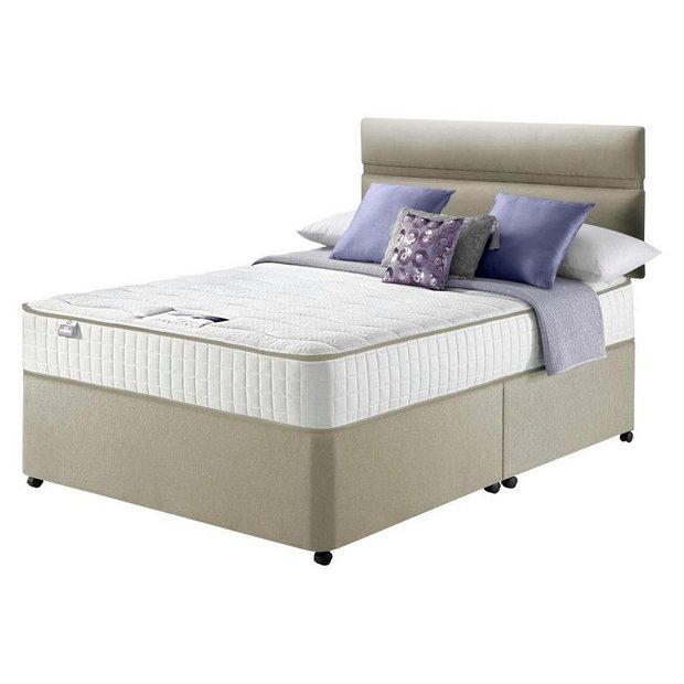 Buy silentnight bingley pocket sprung divan kingsize at your online shop for Argos single divan beds