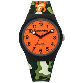 Superdry Men's Camouflage Silicone Strap Watch