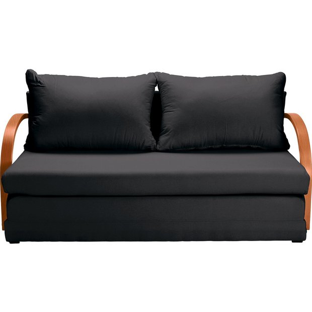Buy Home Fizz 2 Seater Fabric Sofa Bed Black At