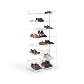 Argos Home 8 Tier White Shoe Rack