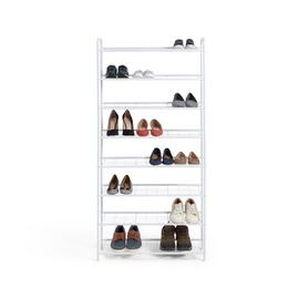 Habitat 8 Tier White Shoe Rack