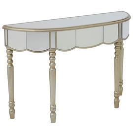 Premier Housewares Tiffany Mirrored Console Table.