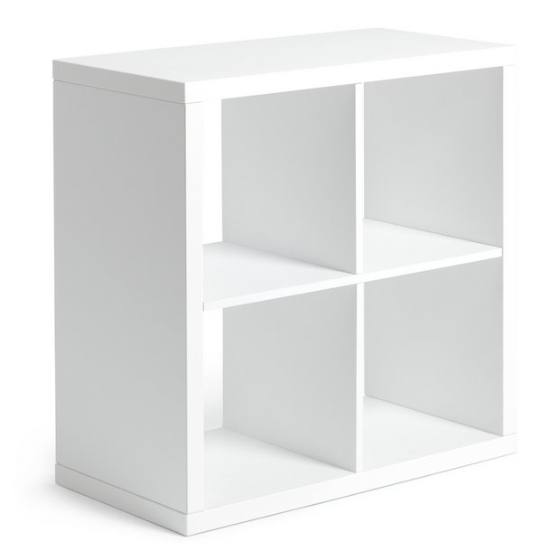 Buy Hygena Squares Plus 4 Cube Storage Unit White Gloss