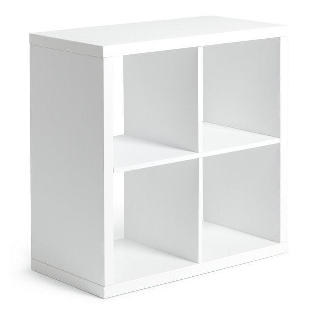 Buy Argos Home Squares Plus 4 Cube Storage Unit White Gloss Bookcases And Shelving Argos
