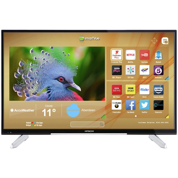 buy hitachi 55 inch ultra hd smart freeview play led tv at. Black Bedroom Furniture Sets. Home Design Ideas