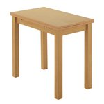 more details on Collection Farnhill 50 x 90cm Ext Dining Table - Natural.
