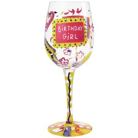 Lolita Birthday Girl Wine Glass.