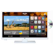 Bush 24 Inch HD Ready Smart TV With DVD Player - White