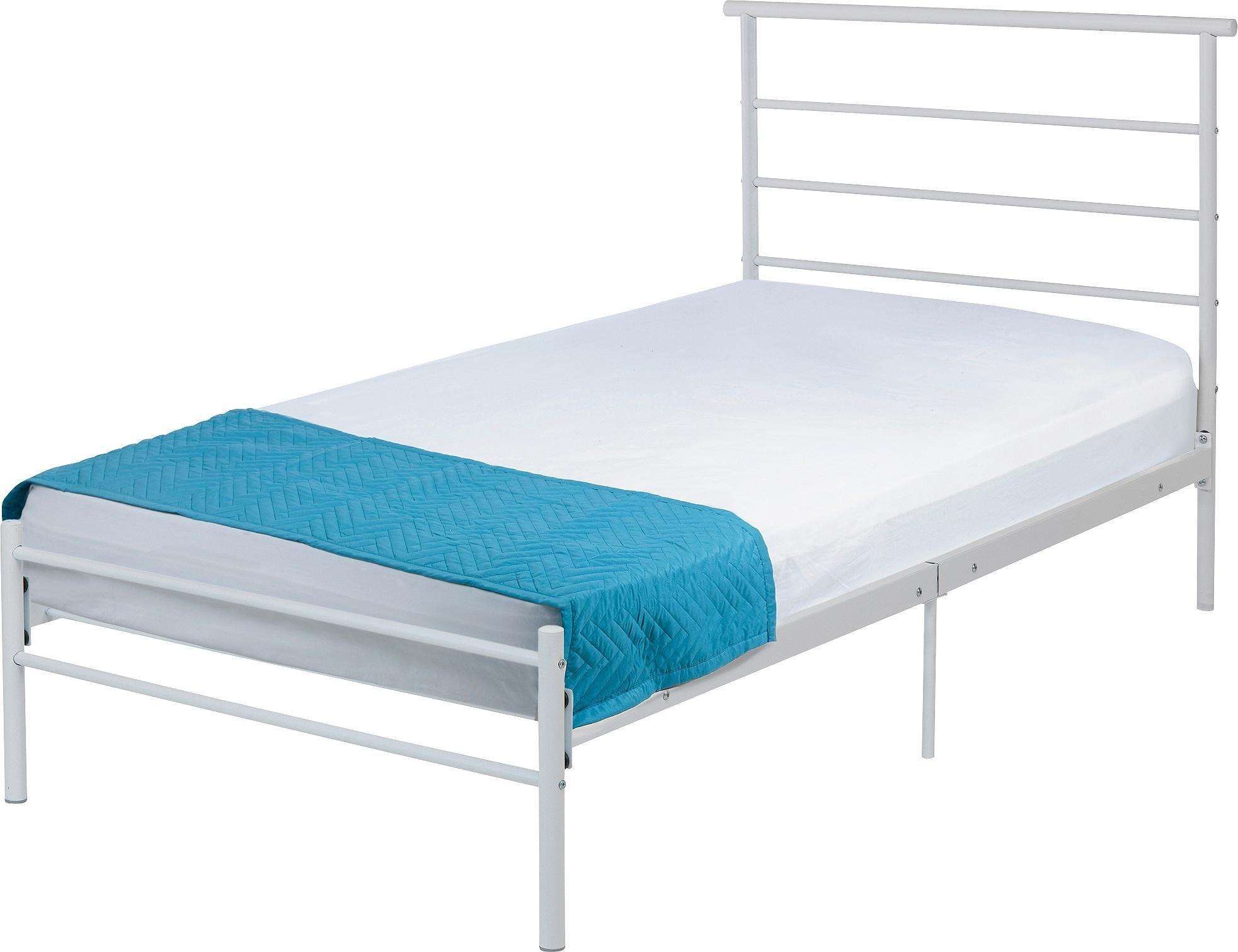 home avalon single bed frame white