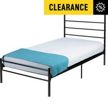 Argos Home Avalon Single Bed Frame - Black