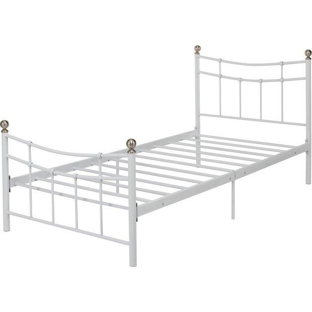 Buy Home Darla Single Bed Frame White At Your Online Shop For Bed Frames Beds