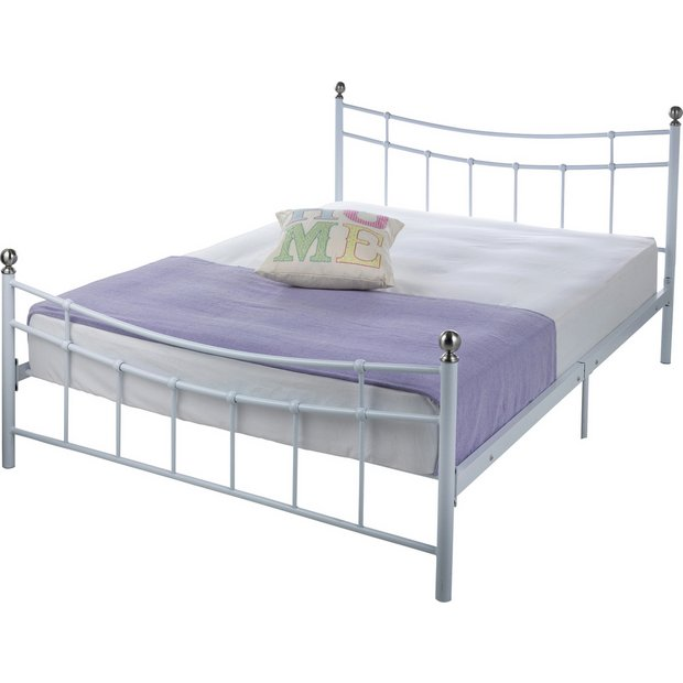 more details on home darla double bed frame white