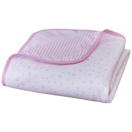 Clair De Lune Stars & Stripes Cot Blanket -  Pink.